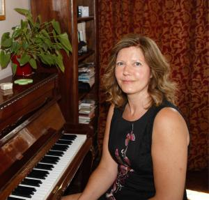 Samantha at piano